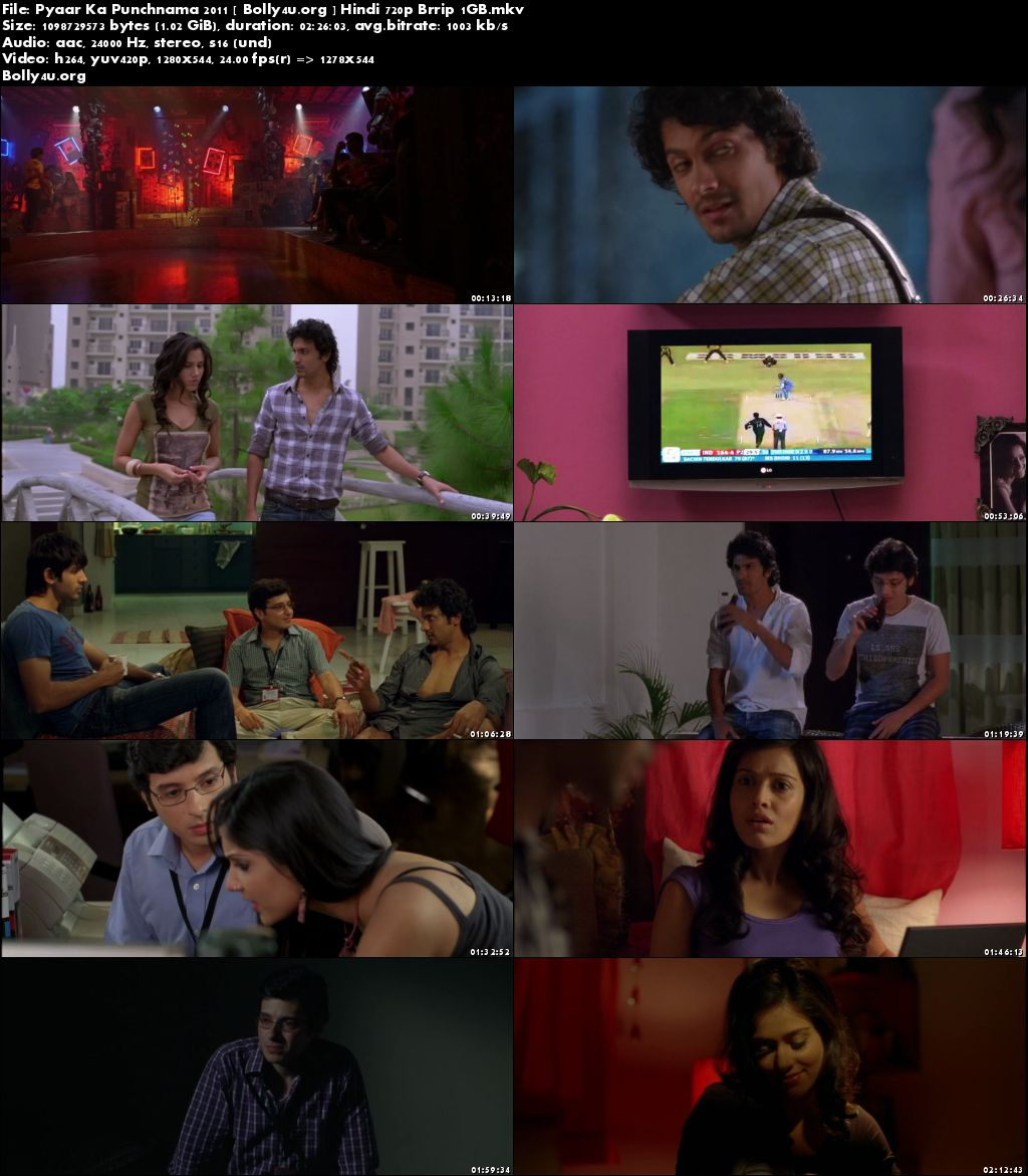 Pyaar Ka Punchnama 2011 BluRay 400MB Full Hindi Movie 480p Download