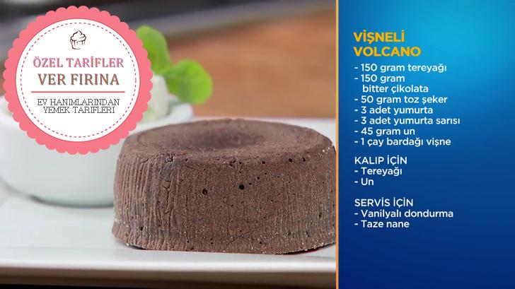 Fox Tv'nin Sevilen Programı Memet Özer ile Mutfakta'da Yapılan Vişneli Vulcano'nun Malzemeleri, Tarifi ve Yapılışı.