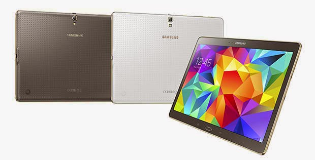 Samsung Galaxy Tab S Feature 8.4 and 10.5 Inch and super AMOLED Displays