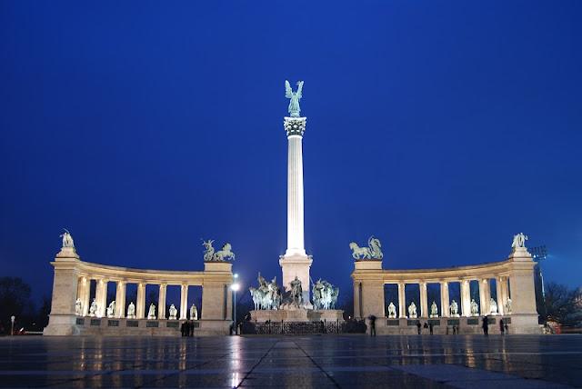 Praça dos Heróis e parque da cidade, Budapeste