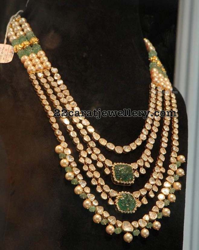 Three Layer pachi Kundan Set