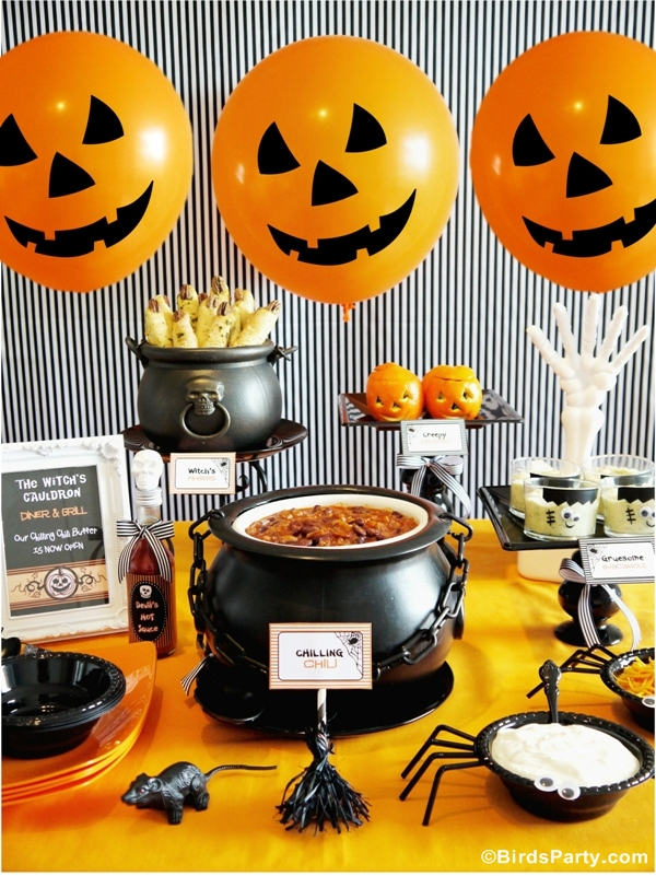 Halloween Chili Buffet Party Ideas and FREE Printables