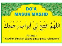 Download Do'a Masuk dan Keluar Masjid Format CDR