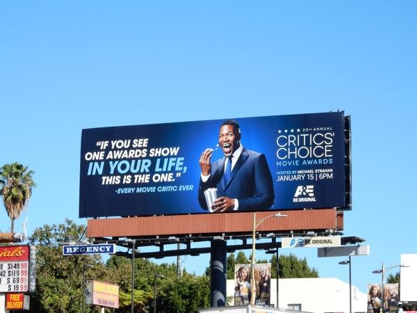 Michael Strahan 20th Critics Choice Movie Awards billboard