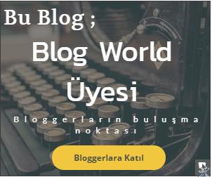 Bu blog blog world üyesidir