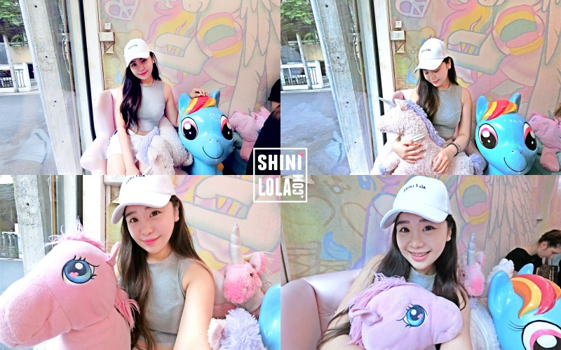 Selfie with the unicorn and ponytail is a must