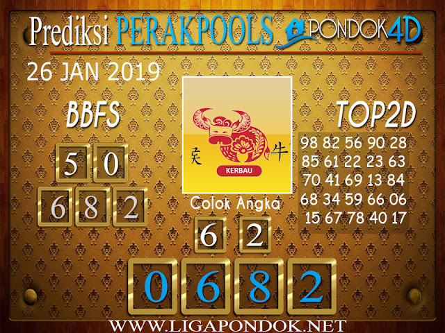 Prediksi Togel PERAK PONDOK4D 26 JANUARI 2019