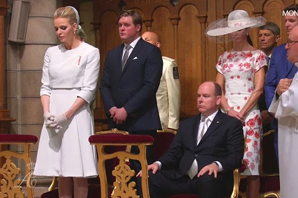 3 Prince Albert II and Princess Charlene christened twins