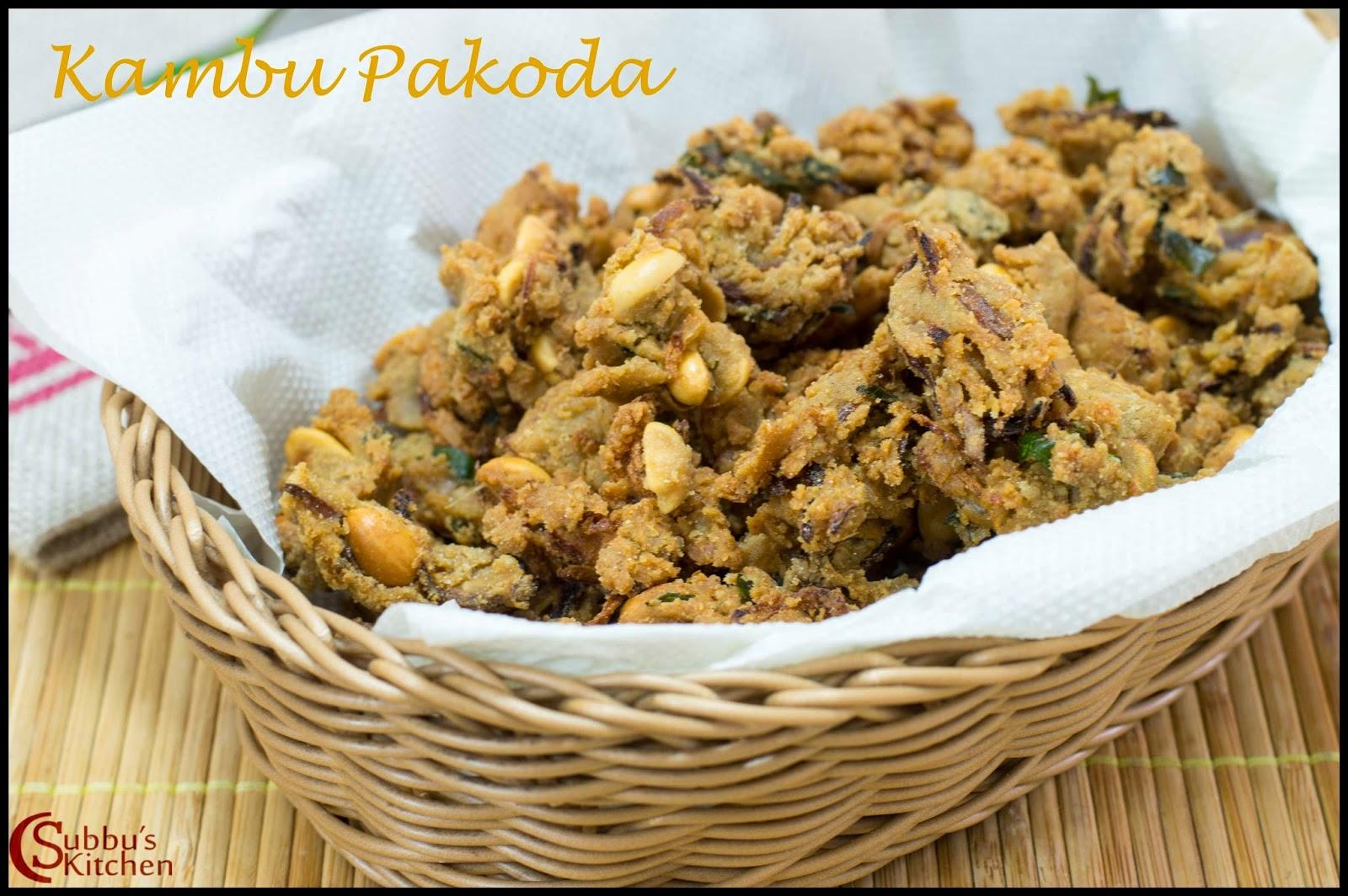 Kambu Pakoda Recipe | Onion Pakoda using Kambu Flour