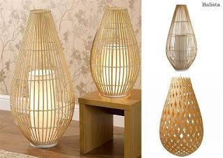 tempat lampu antik dari bambu