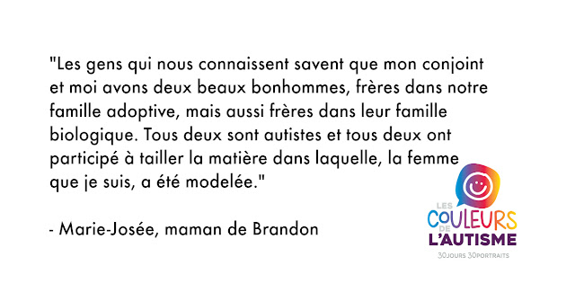 Autisme, la couleur de Brandon 25 avril #30couleurs