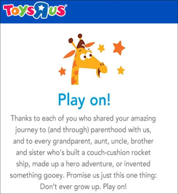 The Last Message From Toys R Us