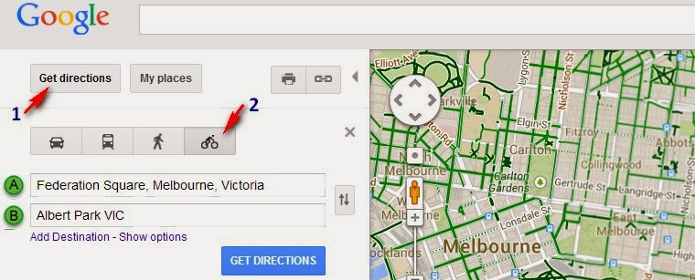 Better By Bicycle: How to use Google Maps to find a good route on google car route, newspaper bike route, ups bike route, google headquarters bikes, google maps, google run route, google walking route,