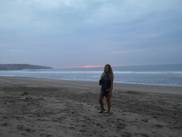 Mancora beach sunset