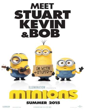 Poster Of Minions 2015 Hindi Dual Audio 400MB BluRay 720p ESubs HEVC Free Download Watch Online downloadhub.in
