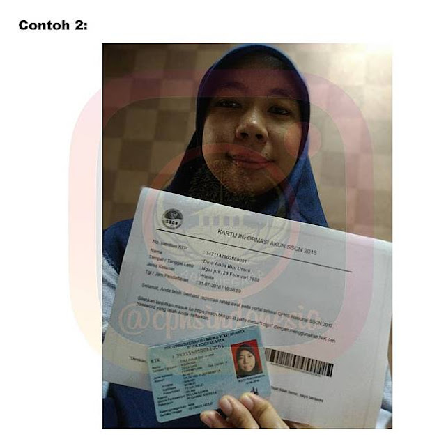 Petunjuk Foto Selfie CPNS 2018 untuk Diunggah di sscn.bkn.go.id
