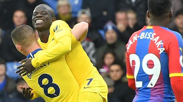 N'golo Kante Scores For Chelsea against Crystal Palace