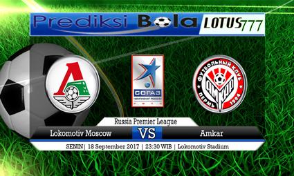 Prediksi Pertandingan antara Lokomotiv Moscow vs Amkar Tanggal 18 September 2017