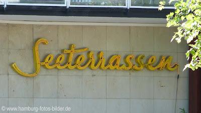 Seeterrassen Hamburg, Schriftzug