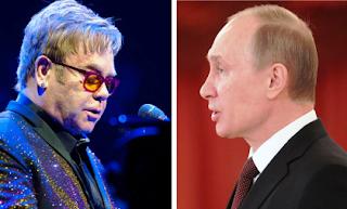 Elton John and Vladimir Putin