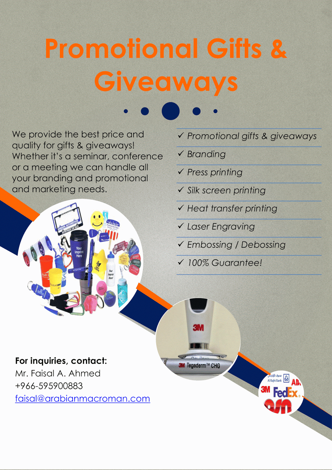 Promotional gifts & giveaways