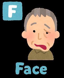 脳卒中の症状の「Face」のイラスト