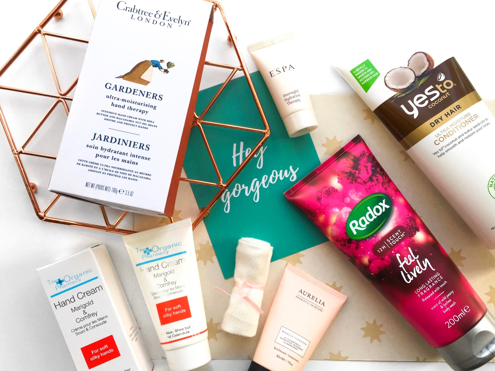 latest in beauty build your own box, latest in beauty subscription review, radox peony body wash, crabtree & evelyn gardeners hand cream