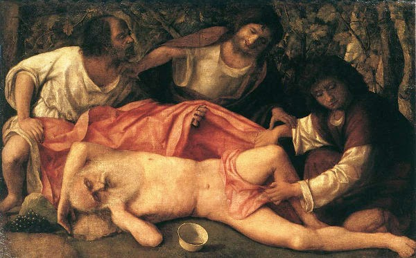 Nuh mabuk, nuh telanjang