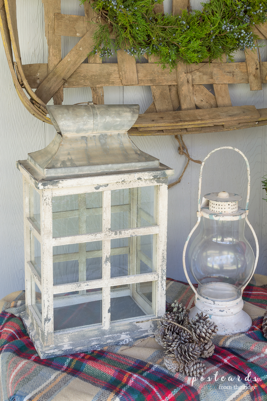 Vintage style farmhouse lanterns