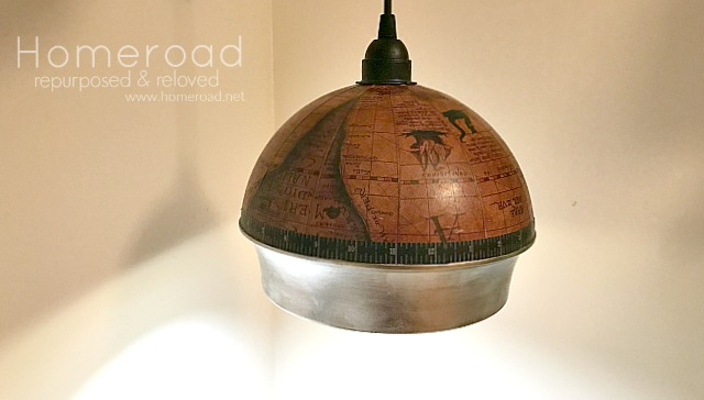 How to Make a Repurposed Globe Hanging Light. Homeroad.net
