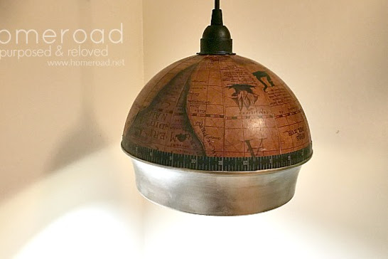 How to Make a Repurposed Globe Hanging Light