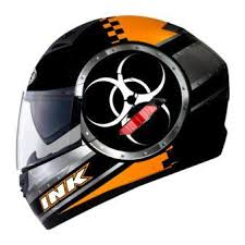HELM INK CL 1 HAZARD KACA DOUBLE