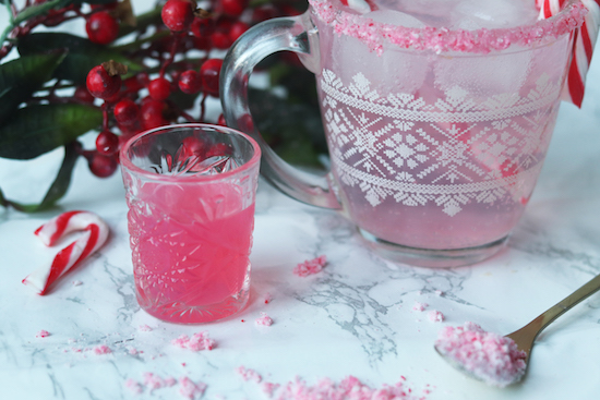 homemade peppermint candy cane gin recipe