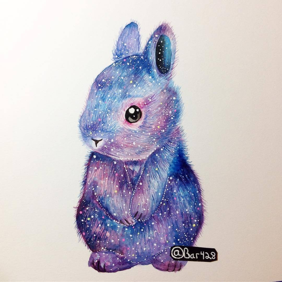11-Space-Bunny-Estefani-Barbosa-Fantasy-Animals-in-Pencil-Drawings-www-designstack-co