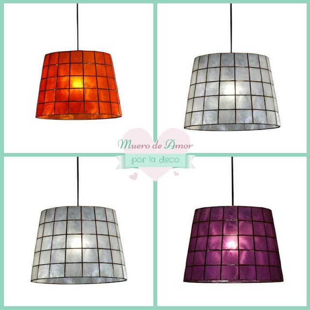 Lámparas de colores para decoración de tiendas