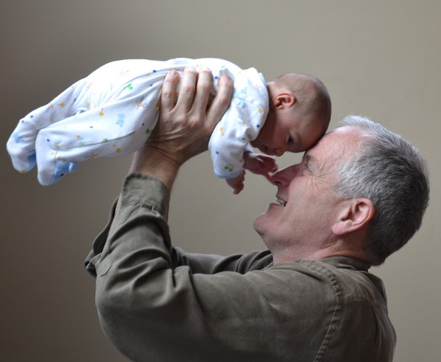 Man with his grandbaby