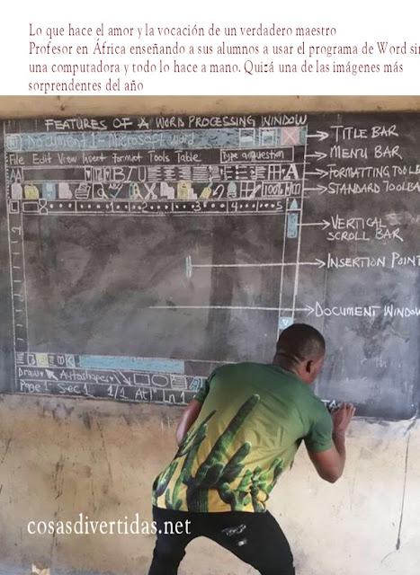 Profesor en África enseñando