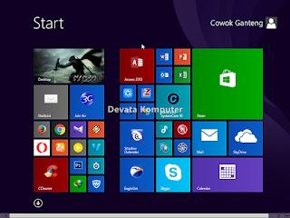 Gambar 4 - Cara Mengembalikan Start Screen Windows 8/8.1 ke Keadaan Awal