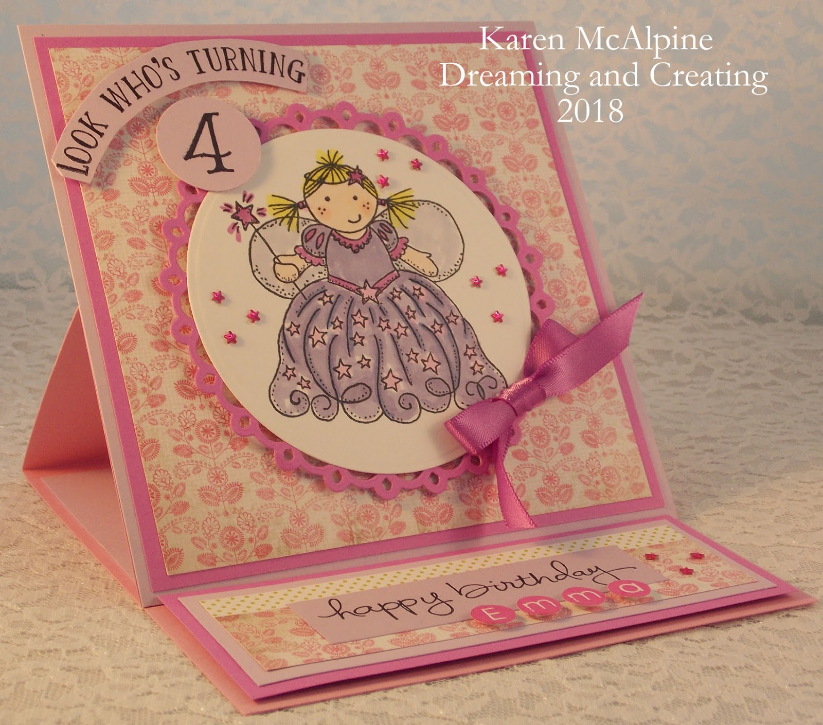 Stopping In To Share A Cute Birthday Card Perfect For Child This Was Made Sweet Four Year Old Here Favorite Colors Are Pink And Purple