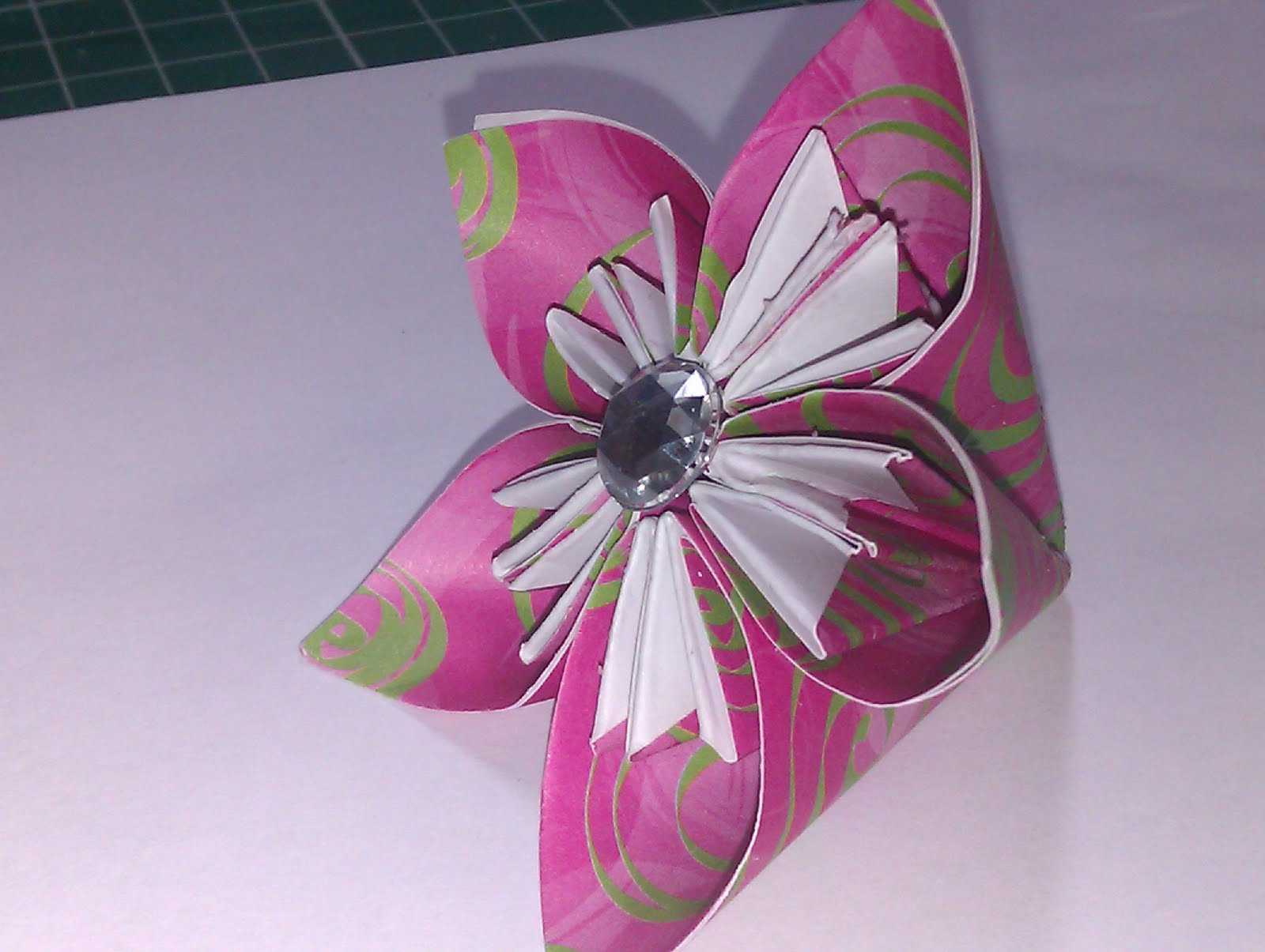 Crafty Loops Flower Tutorial Origami Lily Type Flower