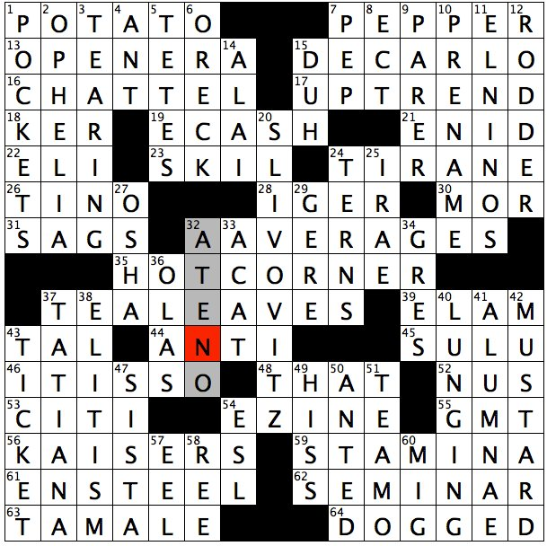 Rex Parker Does The Nyt Crossword Puzzle Gird Certain Kitchen Knife Eisner S Successor At Disney Spanish Waves