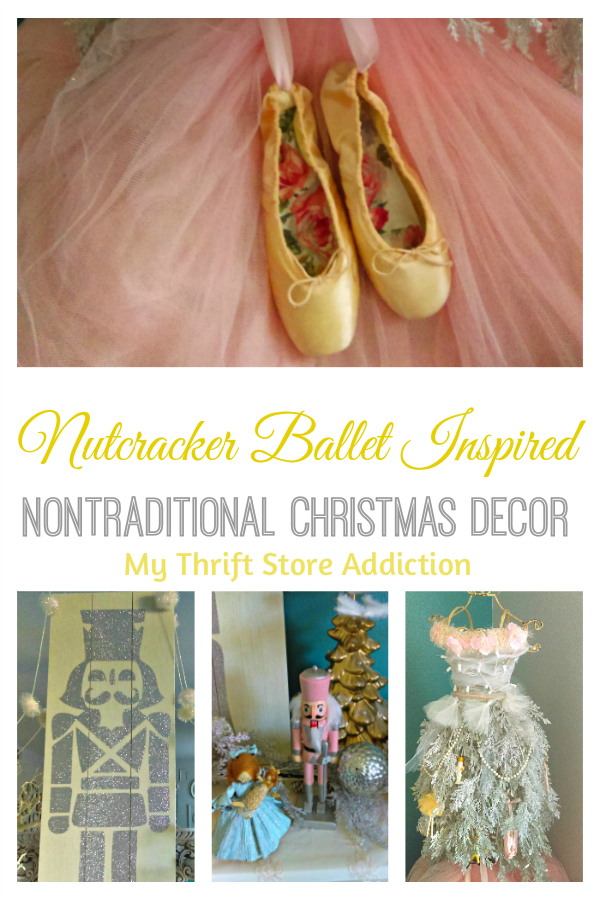 nontraditional Nutcracker ballet inspired Christmas decor