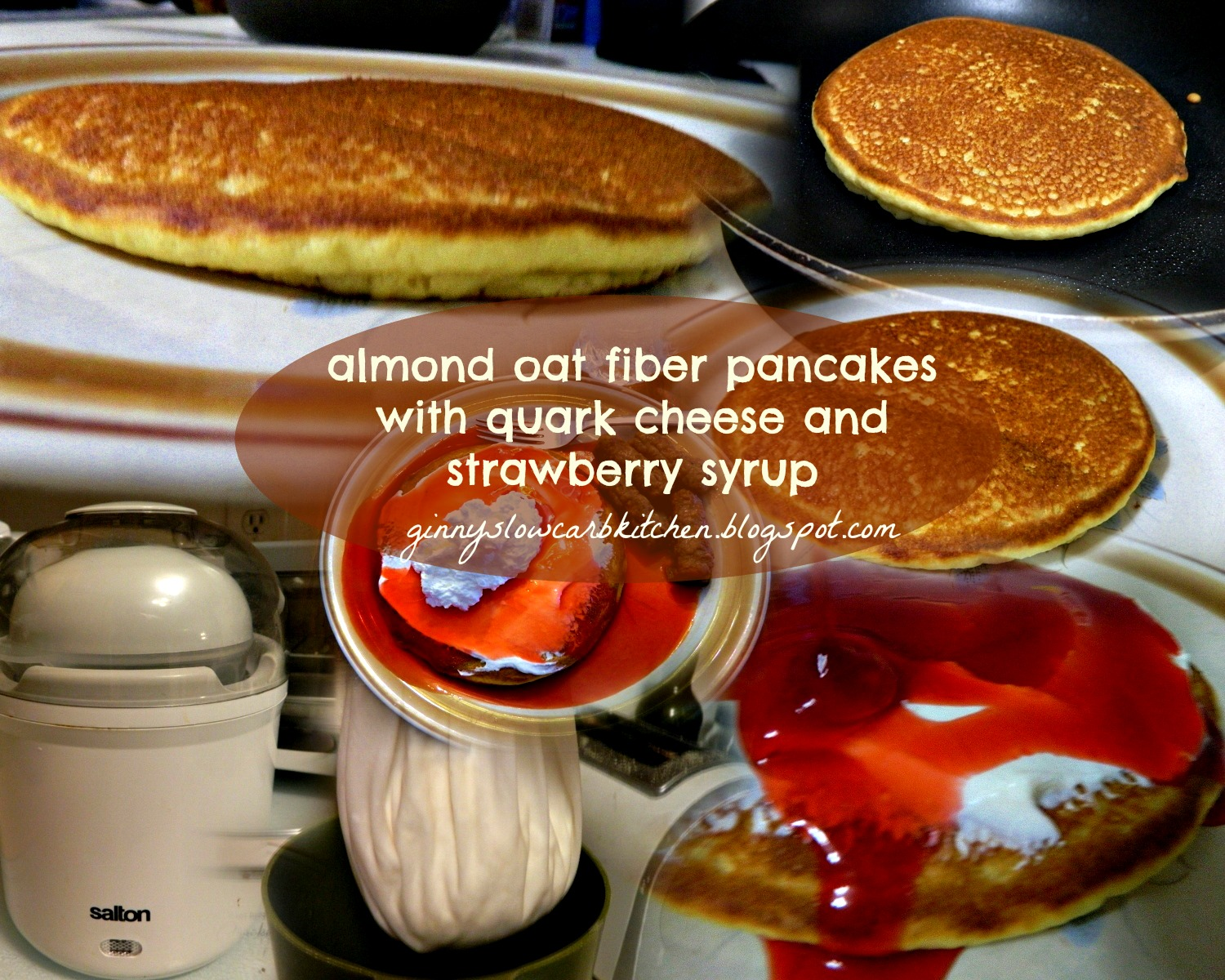 Ginnys low carb kitchen almond flour oat fiber pancakes with quark this is a spin off from my oat fiber pancakes which have been incredibly popular on my blog that i posted here i decided to try making them with almond ccuart Images