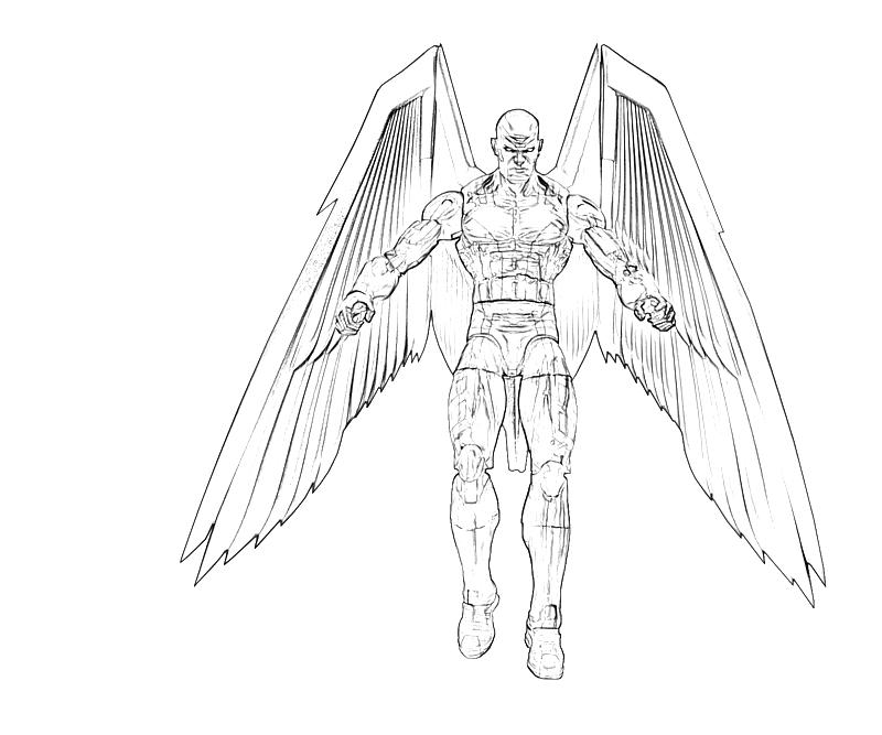 Archangel character nintendo wee for Archangel michael coloring page