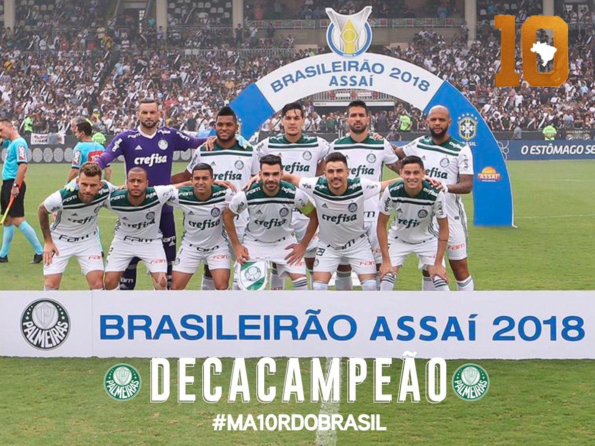 1b12e67d27 Palmeiras é Campeão do Brasileirão de 2018 da Primeira Divisão