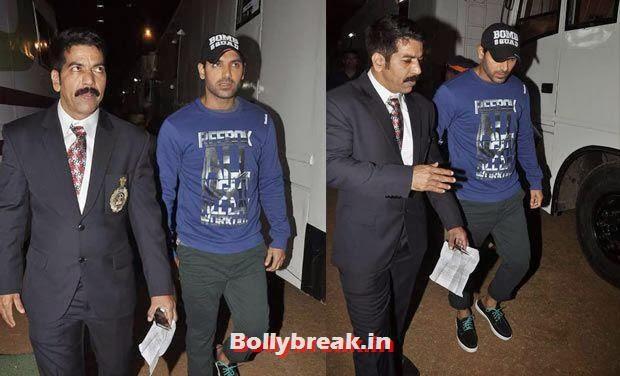 John abraham, Bollywood Celebs Style Check at Mumbai Police Umang 2014