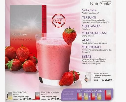 Oriflame Nutrishake Strawberry Flavour