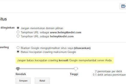Cara membatasi crawl google bot