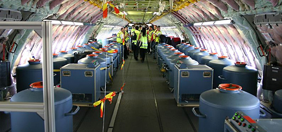 Equipamento de testes de aeronaves