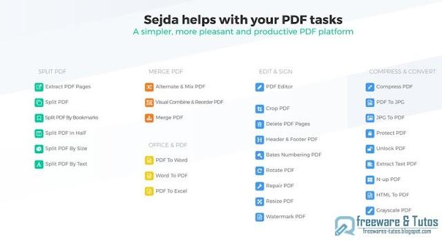 Sejda PDF : une nouvelle suite en ligne d'édition de PDF